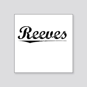 "Reeves, Vintage Square Sticker 3"" x 3"""