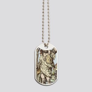 Saint Christopher carrying Christ Child Dog Tags