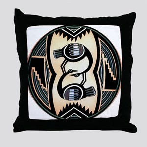 MIMBRES LOVE BIRDS BOWL DESIGN Throw Pillow