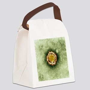 SARS virus, TEM Canvas Lunch Bag