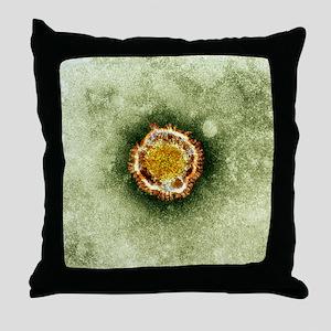 SARS virus, TEM Throw Pillow