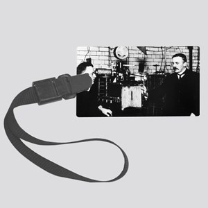 Rutherford and Geiger in laborat Large Luggage Tag