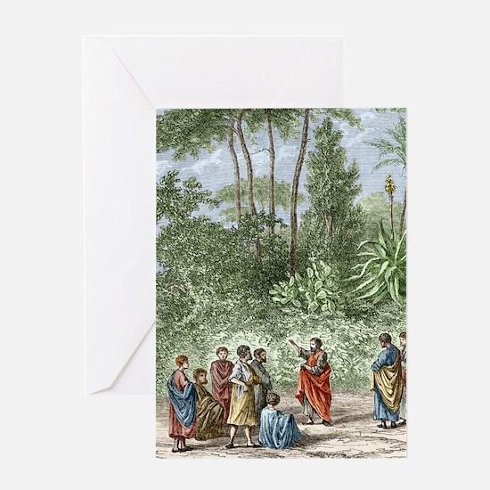 School of Pythagoras in Croton Greeting Card