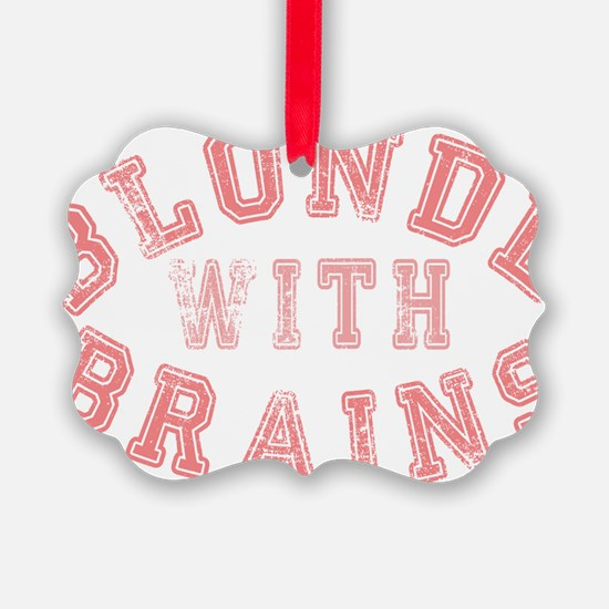 Blonde with Brains Ornament