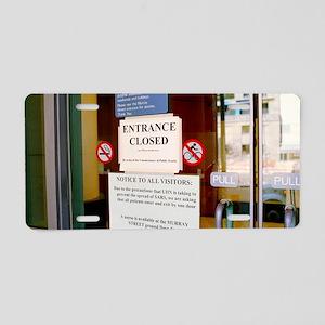 SARS control measures Aluminum License Plate