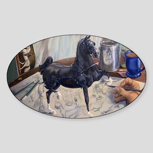 Hackney Pony Sticker (Oval)