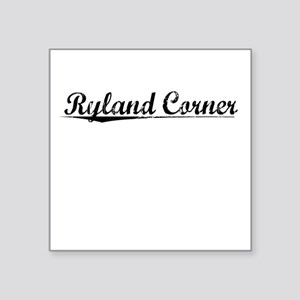 "Ryland Corner, Vintage Square Sticker 3"" x 3"""