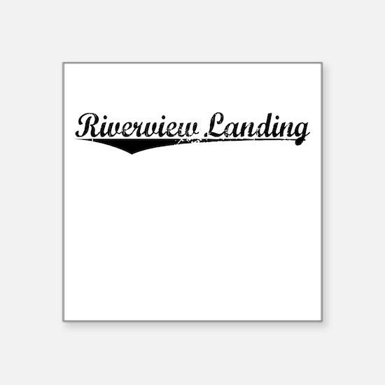 """Riverview Landing, Vintage Square Sticker 3"""" x 3"""""""