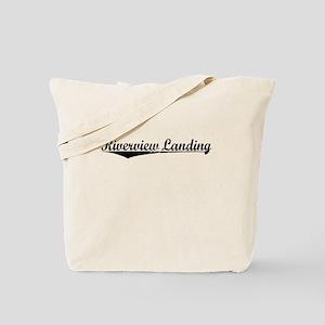 Riverview Landing, Vintage Tote Bag