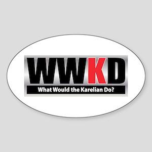 WW the Karelian D Oval Sticker