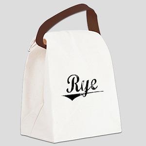 Rye, Vintage Canvas Lunch Bag