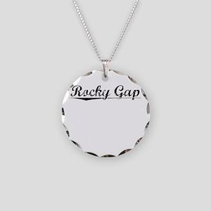 Rocky Gap, Vintage Necklace Circle Charm