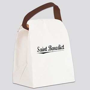 Saint Benedict, Vintage Canvas Lunch Bag