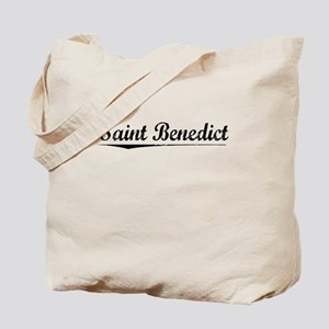 Saint Benedict, Vintage Tote Bag