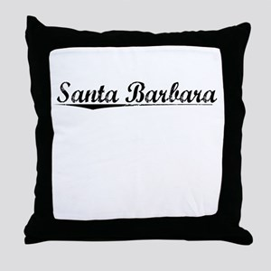 Santa Barbara, Vintage Throw Pillow