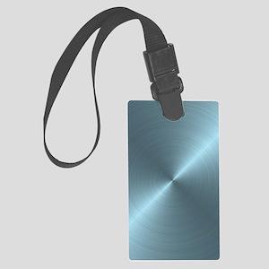 Metallic Blue Large Luggage Tag