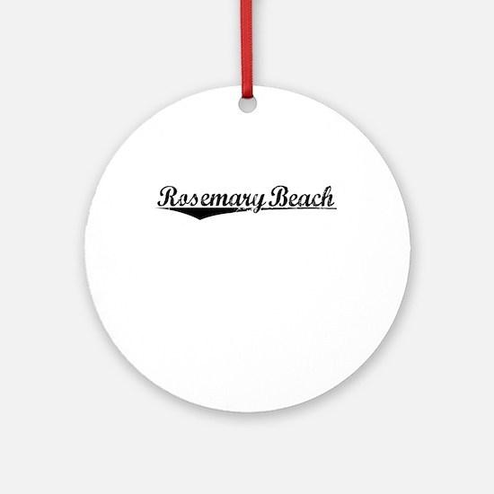 Rosemary Beach, Vintage Round Ornament