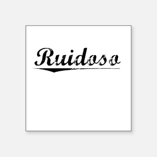"""Ruidoso, Vintage Square Sticker 3"""" x 3"""""""