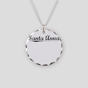 Santa Anna, Vintage Necklace Circle Charm