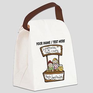 Custom Lemonade Stand Canvas Lunch Bag