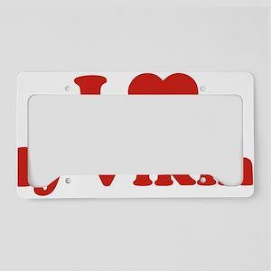 vikingLoveMy1C License Plate Holder