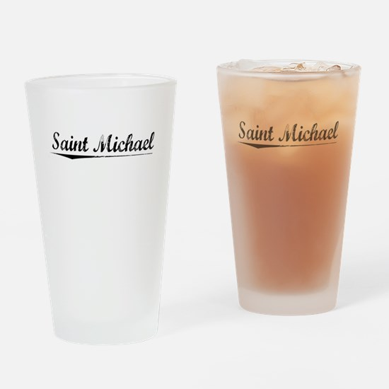 Saint Michael, Vintage Drinking Glass