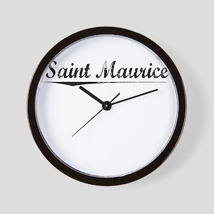 Saint Maurice, Vintage Wall Clock