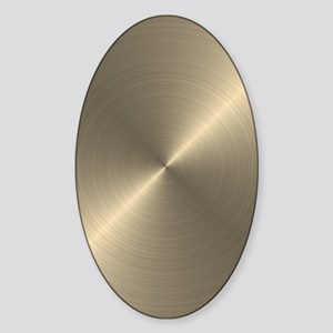 Metallic Gold Sticker (Oval)