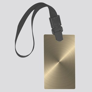 Metallic Gold Large Luggage Tag