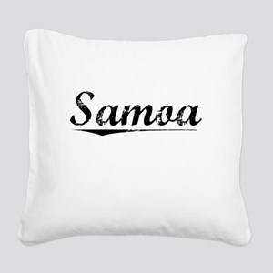 Samoa, Vintage Square Canvas Pillow