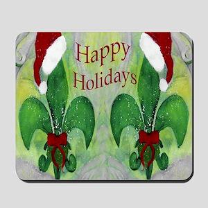 Christmas Santa Fleur de lis Mousepad