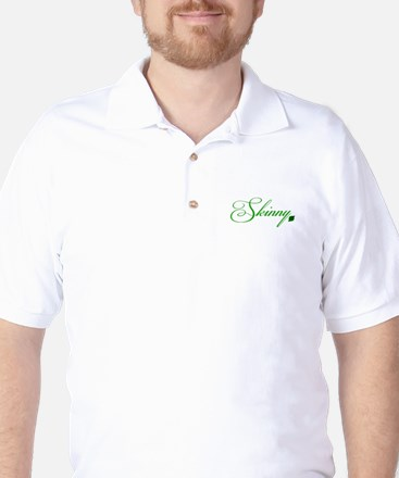 Strong is the New Skinny (White) Golf Shirt
