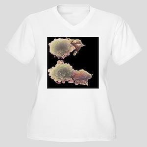 Skin cancer cells Women's Plus Size V-Neck T-Shirt