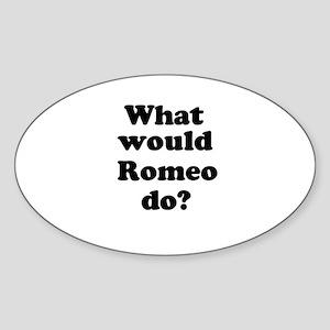 Romeo Oval Sticker
