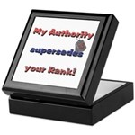 Navy Wife Authority Keepsake Box