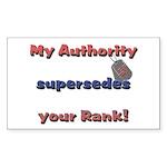 Navy Wife Authority Rectangle Sticker