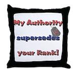 Navy Wife Authority  Throw Pillow