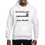Navy Wife Authority Hooded Sweatshirt