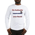 Navy Wife Authority Long Sleeve T-Shirt