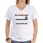 Navy Wife Authority Women's V-Neck T-Shirt