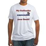Navy Wife Authority Fitted T-Shirt