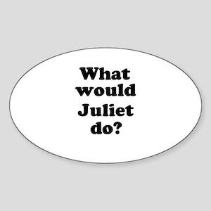 Juliet Oval Sticker