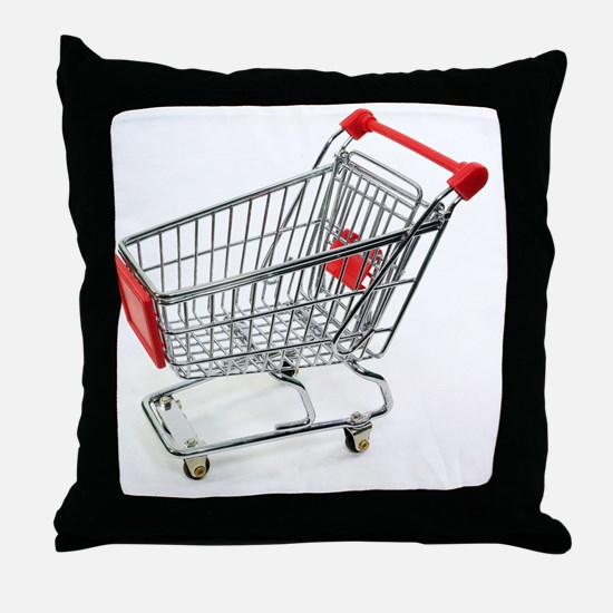 Shopping trolley Throw Pillow