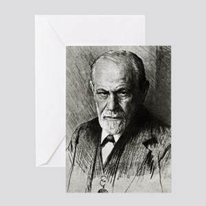 Sigmund Freud, Austrian psychologist Greeting Card