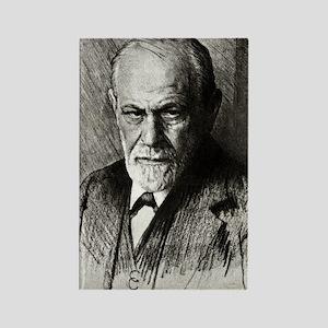Sigmund Freud, Austrian psycholog Rectangle Magnet