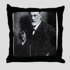 Sigmund Freud, Austrian psychologist Throw Pillow
