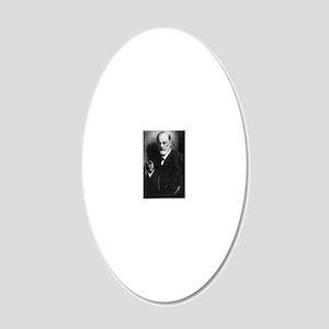 Sigmund Freud, Austrian psyc 20x12 Oval Wall Decal