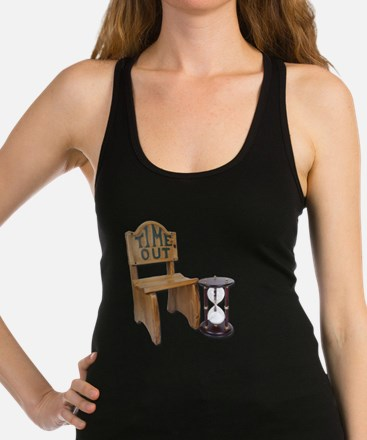 Timeout Chair Hourglass Racerback Tank Top