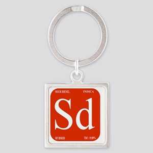 Sour Diesel Square Keychain