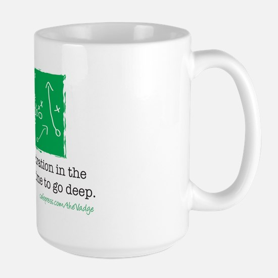 Pass Play Large Mug